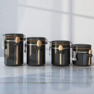 Black Kitchen Canisters Jars