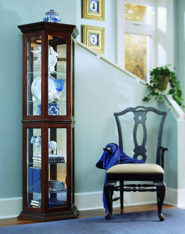 Hollingdon Lighted Curio Cabinet