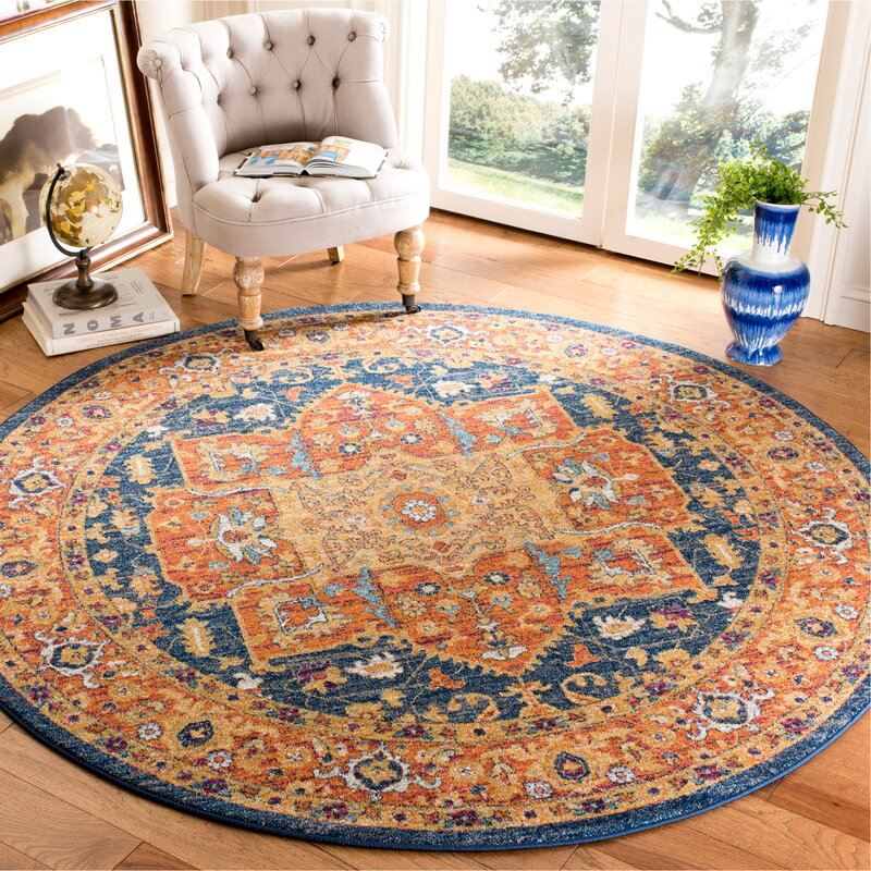 Benton Blue/Orange Area Rug