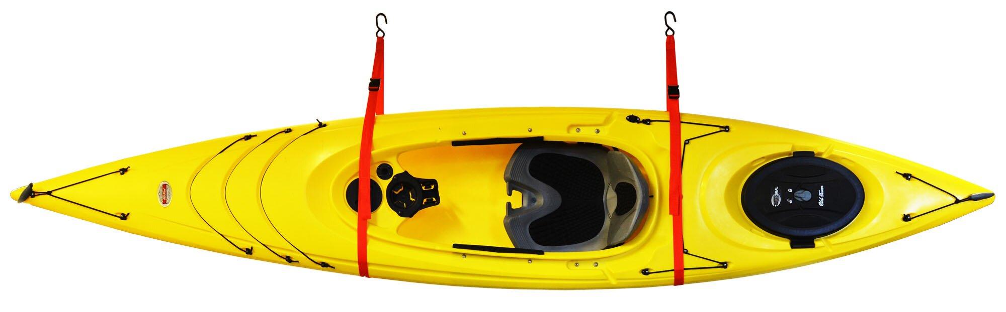 SlingOne™ Single Kayak Storage System Ceiling/Wall Mounted Kayak Rack