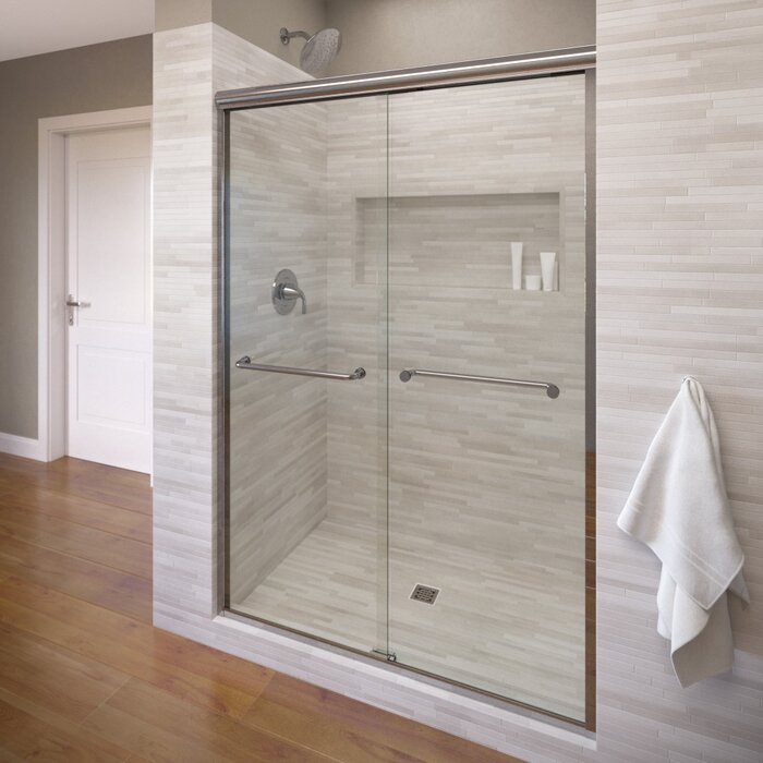 slider attachment portfolio frameless door sliding serenity knee shower wall