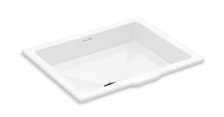 Kallista Perfect Centric Rectangle Undermount Bathroom Sink with ...