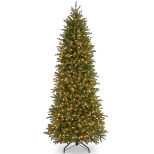 jersey feel real fraser pencil 10 green fir trees artificial christmas tree with 850 incandescent clearwhite lights