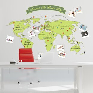 Wall Sticker World Map.World Map Wall Sticker Wayfair Co Uk