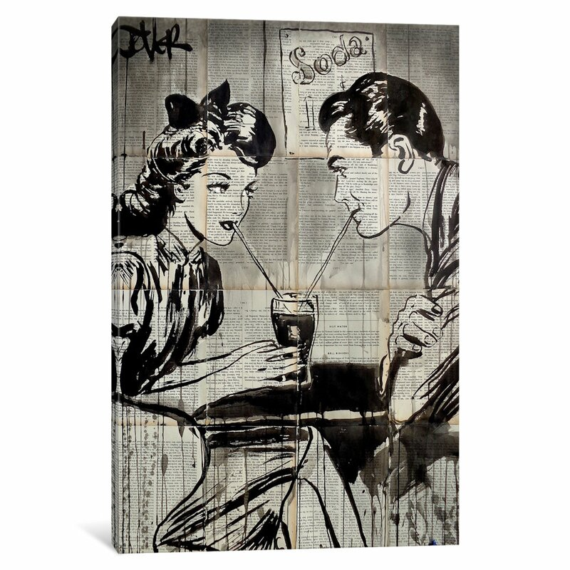Gray 'soda Pop' Graphic Art Print On Canvas by East Urban Home