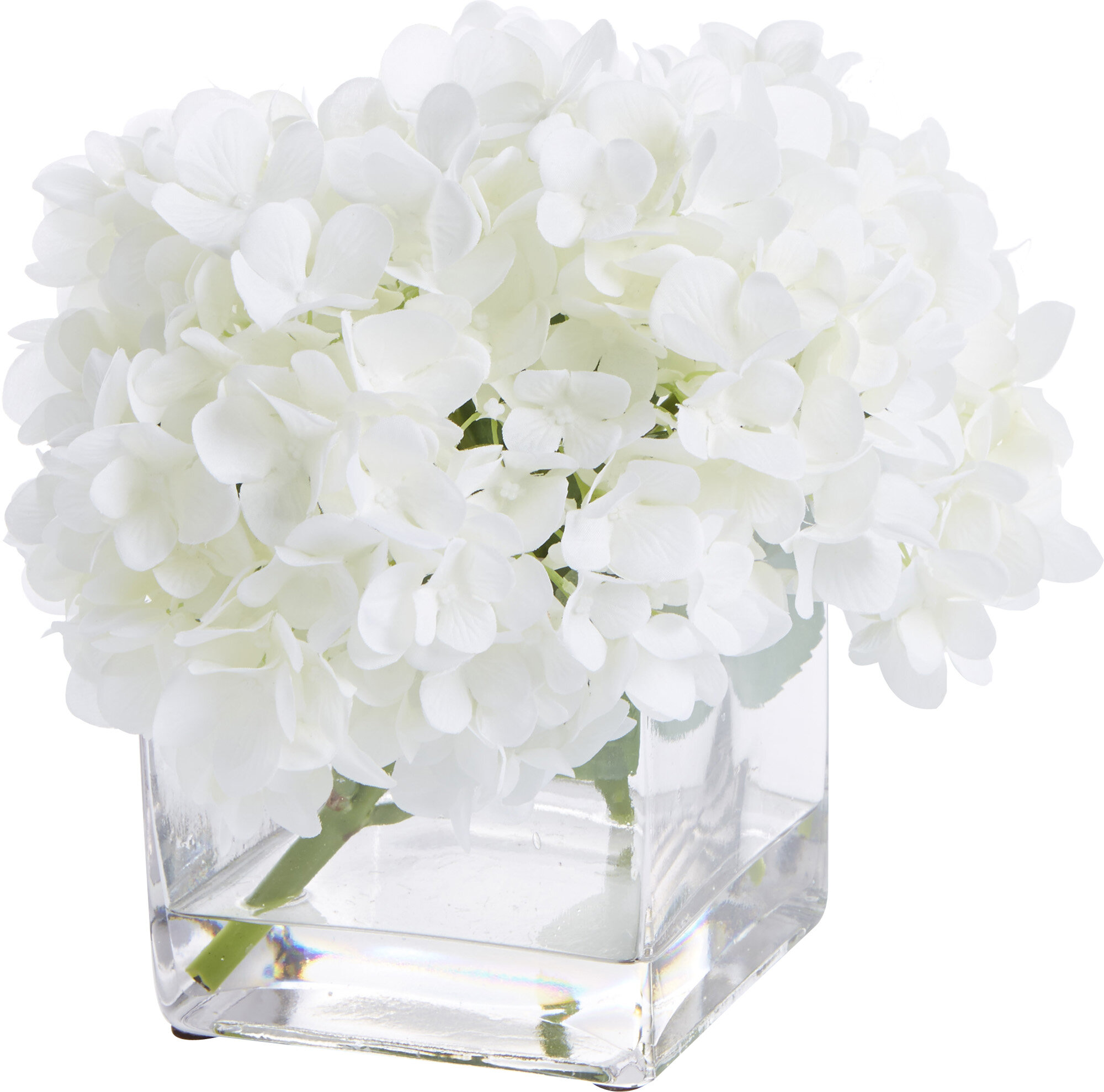 Creative Displays Inc Faux White Hydrangea Arrangement Reviews