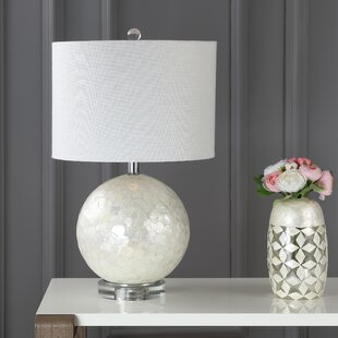Capiz shell lamp wayfair mila capiz seashell 24 table lamp aloadofball Images
