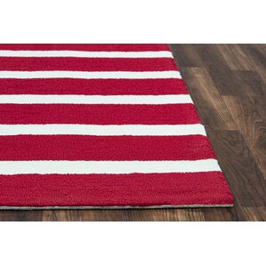 Lyndon Hand Tufted Red Indoor/Outdoor Area Rug