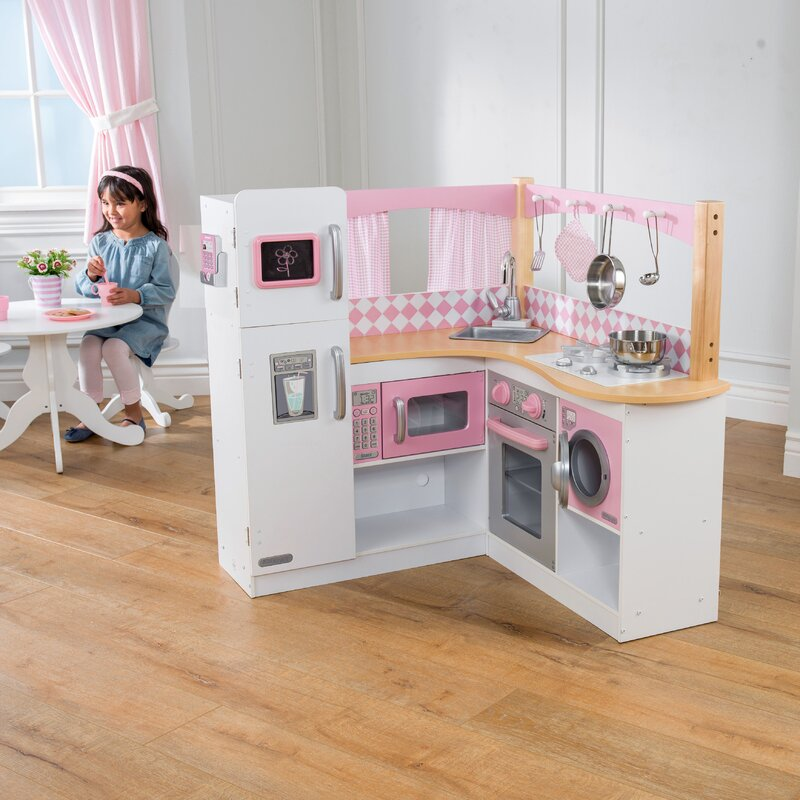 Kidkraft Corner Kitchen: KidKraft Grand Gourmet Corner Kitchen Set & Reviews