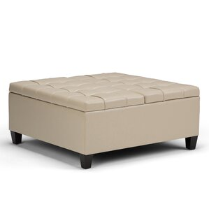 Harrison Coffee Table Storage Ottoman by Simpli Home