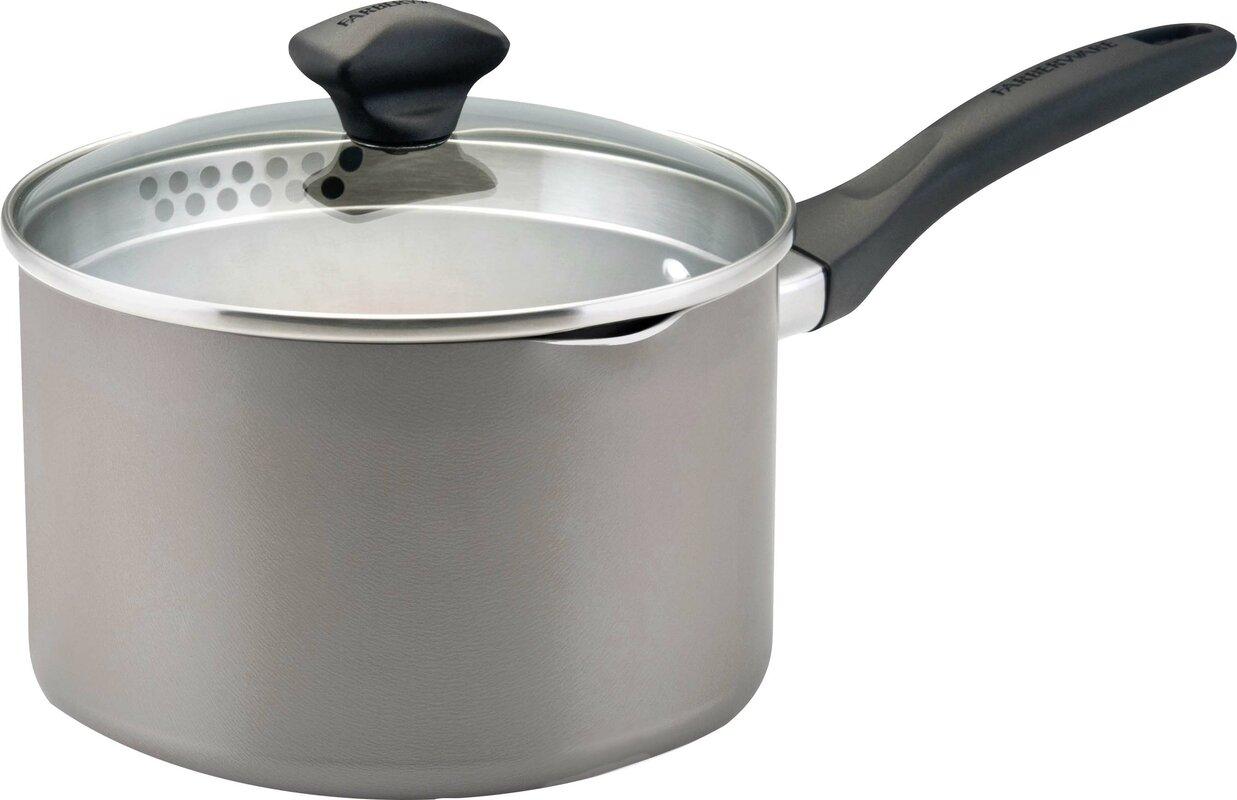 Aluminum Dishwasher Safe Saucepan with Lid