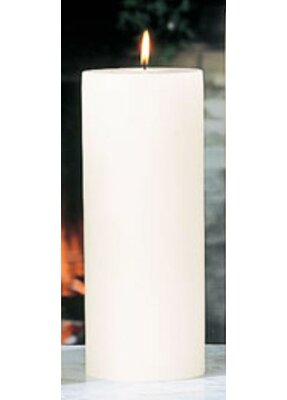 Beachcrest Home Unscented Ivory Pillar Candle Size: 4 x 10