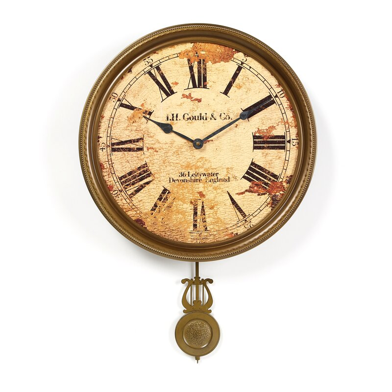 Pendulum Wall Clocks You\'ll Love | Wayfair