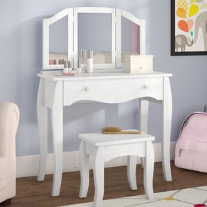 vanity bedroom. Malachi Bedroom Vanity Set with Mirror Kids Vanities You ll Love  Wayfair