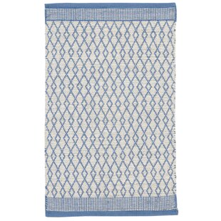 Bay Handmade Dhurrie Cotton Blue Rug by Home Loft Concept