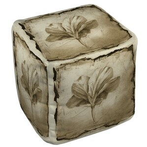 Floral Impression 9 Ottoman by Manual Woodworkers & Weavers