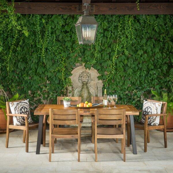 Union Rustic Adair Outdoor 7 Piece Dining Set Amp Reviews