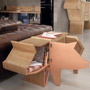 Bon Sending Animals Pig Accent Cabinet