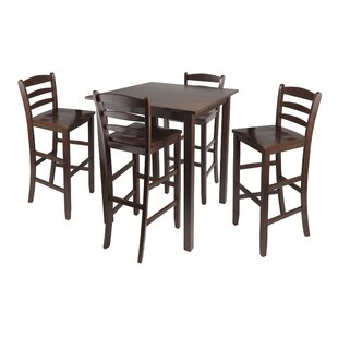 Auburn Road 5 Piece Counter Height Pub Table Set