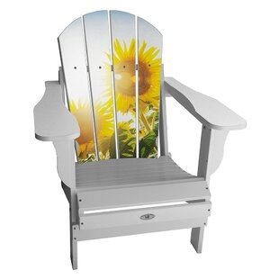 Gosnell Sunflower Resin Folding Adirondack Chair