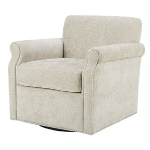 Evans Swivel Armchair by Alcott Hill