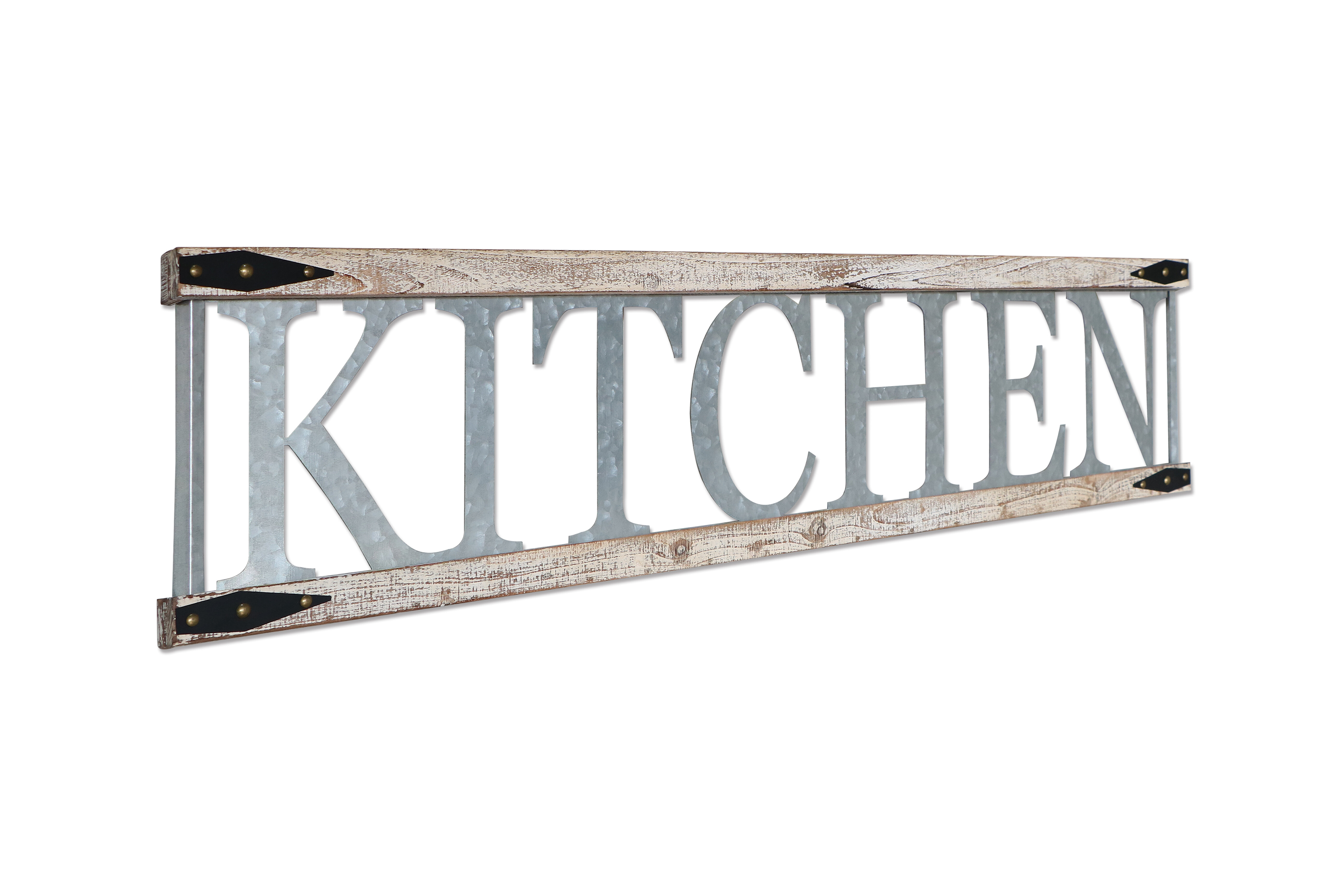 Metal And Wood Farmhouse Kitchen Sign Wall Decor