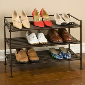 utility 3tier 9 pair stackable shoe rack