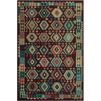 World Menagerie One Of A Kind Rucker Handmade Kilim 6 8 X 9 9 Wool Brown Green Area Rug Wayfair