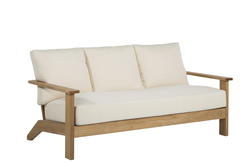 Astounding Ashland Teak Patio Sofa With Cushions Pabps2019 Chair Design Images Pabps2019Com