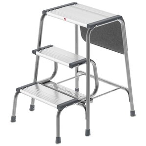 3-Step Aluminum Folding Step Stool with 330 lb. Load Capacity  sc 1 st  Wayfair : two step folding step stool - islam-shia.org