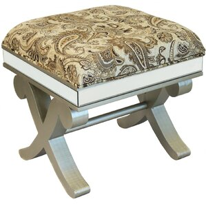 Urban Designs Wood Ottoman Stool Bench by EC World Imports