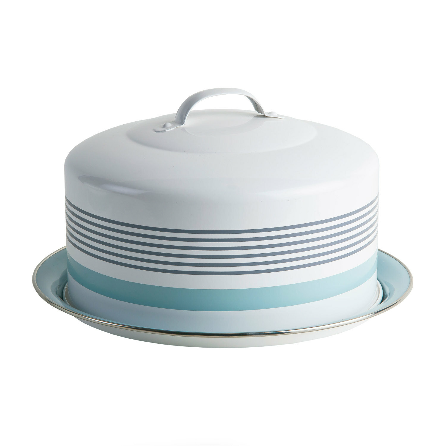 Round Cake Tin With Cover Lid And Handle Reviews Birch Lane