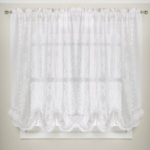 Hopewell Floral Heavy Lace Kitchen Curtain Shade