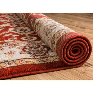 Giles Traditional Red Area Rug
