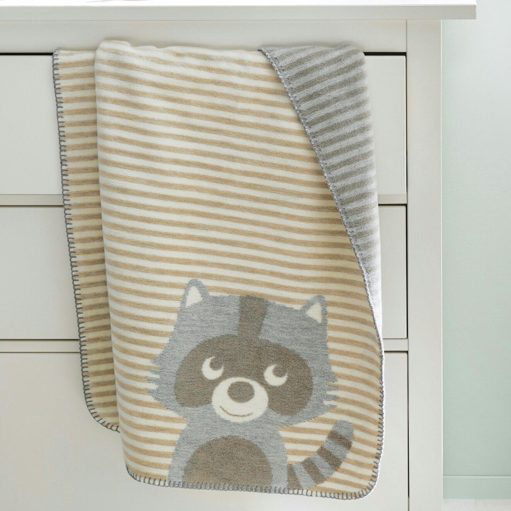 Ibena Rocky the Racoon Baby Blanket  aba52995517ca