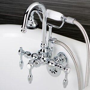 Tudor Lever Handle Clawfoot Tub Faucet