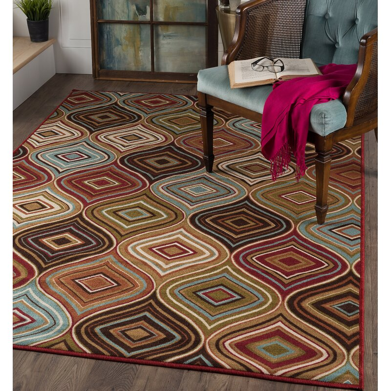 Calhoun Cream Brown Area Rug