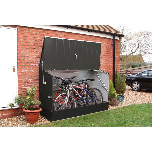 D Metal Horizontal Bike Shed Wayfair