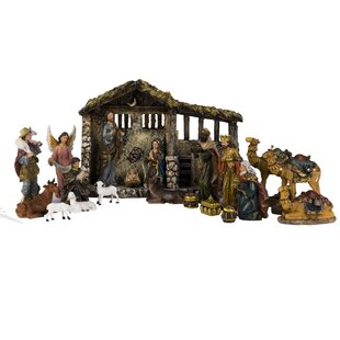 Nativity scenes sets youll love wayfair 21 piece nativity set solutioingenieria Image collections