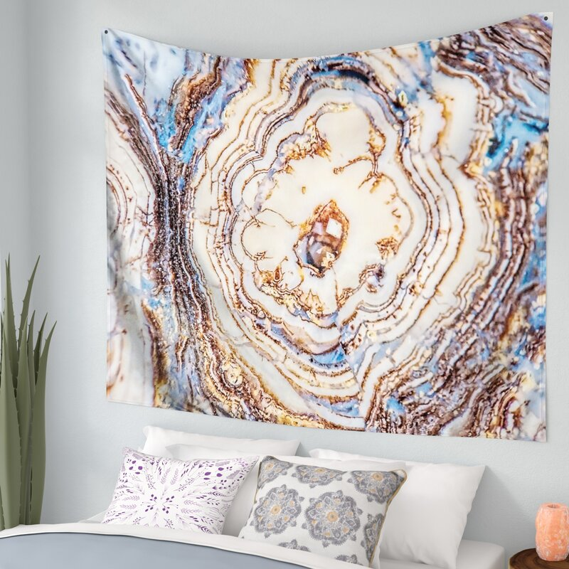 adc7614960 East Urban Home Crystal Agate Wall Tapestry   Reviews