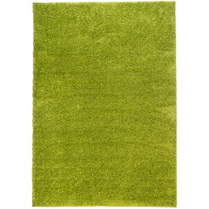 Reynolds Plain Solid Green Area Rug