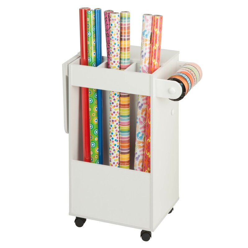 Rolling craft storage cart reviews joss main for Rolling craft table with storage
