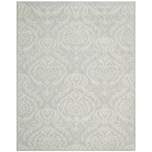 Mcguire Hand-Tufted Wool Silver/Ivory Area Rug
