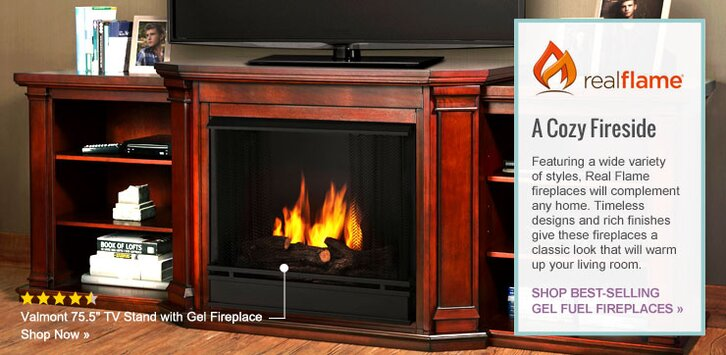 shop real flame fireplaces by category - Gel Fuel Fireplace