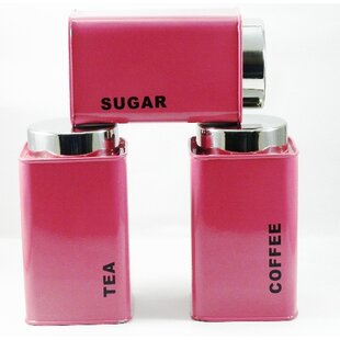 Airtight Square 3 Piece Coffee, Tea, U0026 Sugar Set