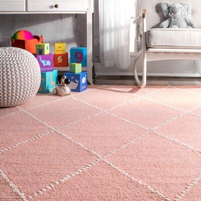 Nat Diamond Hand-Tufted Baby Pink Area Rug   AllModern