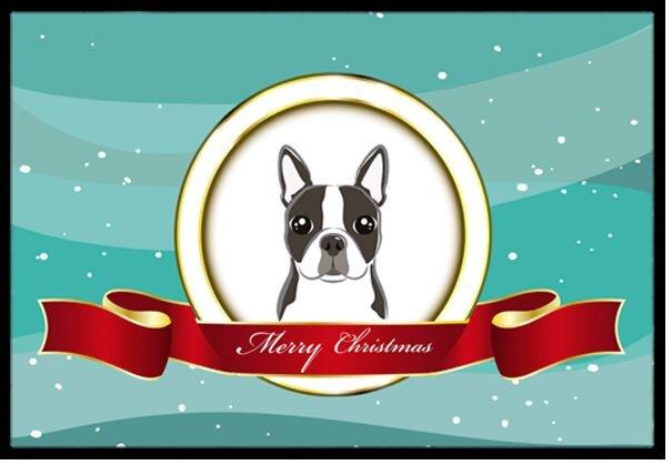 boston terrier merry christmas doormat - Boston Terrier Christmas