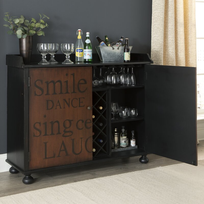 Red Barrel Studio Sprowston Bar Cabinet With Wine Storage Reviews