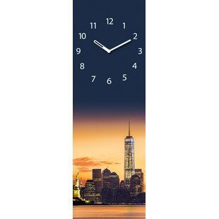 Analoge Wanduhr Time Art Manhattan Sunrise