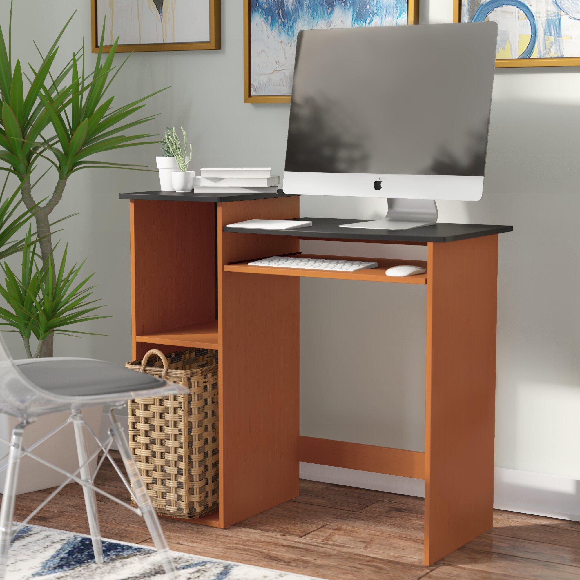 dorm brown room office computer product homcom wood shop tray table keyboard rakuten aosom with desk home